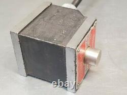 Starrett No. 657A magnetic base with a Starrett No. 196 indicator