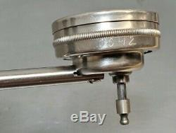 Starrett No. 657A magnetic base with a Starrett No. 196 indicator in wooden box