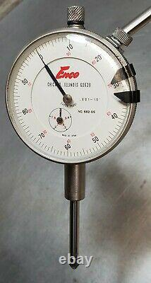 Starrett No. 657AA magnetic base with a Enco No. 682-05 1 dial indicator