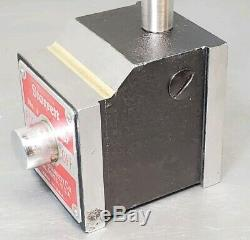 Starrett No. 657AA magnetic base with a Skilltech 1 dial indicator