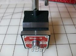 Starrett No. 657aa Magnetic Base Dial Indicator Magnetic Base! Free Shipping