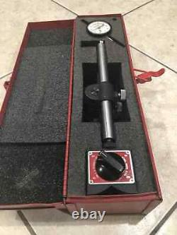 Starrett No. 659 A Heavy Duty Magnetic Base with # 25-341 Dial Indicator & Box