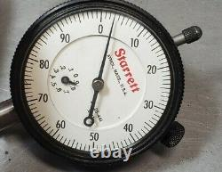 Starrett No. 659 HEAVY DUTY magnetic base with Starrett dial indicator No. 25-441