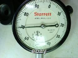 Starrett No. 659 Magnetic Base with No. 25-441 Dial Indicator ALL HEAVY DUTY