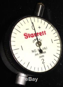 Starrett No. 80-114j Dial Indicator. 010 Range. 0001 Grad 0-2-0