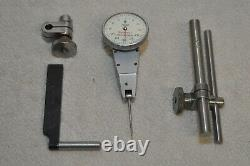Starrett No. 811-1CZ. 001 Swivel Head Dial Indicator Set withCase Excellent
