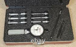 Starrett No. 82 dial bore gage set. 217 to. 594 with No. 81-111-630 indicator