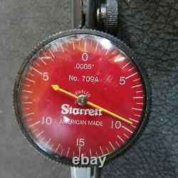 Starrett R709AZ Dial Test Indicator with Dovetail. 030 Range, $300 NEW