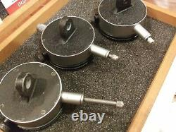 Starrett S253Z Test Dial Indicator Set Wooden Case Tool Die Inspection Very Nice