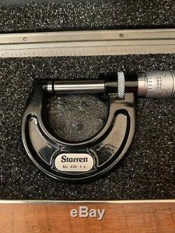 Starrett S909Z Basic Precision Measuring Tool Set Dial Indicator Micrometer Rule