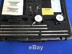 Starrett Shaft Alignment Clamp Set 668 And Dial Indicators NICE