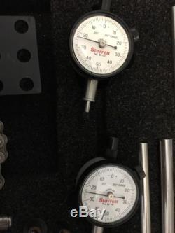 Starrett Shaft Alignment Indicator Clamp No 668 & 2 81-141 Dial Indicators Set