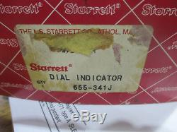 Starrett dial indicator Model 655-341J with 5 inch stem extension