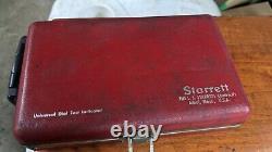 Starrett dial indicator set and magnetic base
