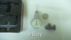 Starrett lever dial Indicator, 811.001 increments, 0-30-0 face, post snug, case