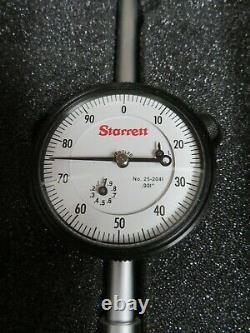 Starrett model 25-2041J 0-2/. 001 Dial Indicator Brand New OC25
