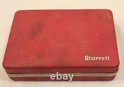 Starrett no 196 (. 001 jeweled) Indicator Set Complete
