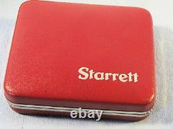 Starrrett Last Word 711-D10 Dial Test Indicator Set. 0001 Inch Used