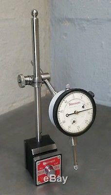 Stattet No. 25-631 1 dial indicator with Starrett No. 657AA magnetic base