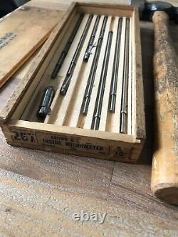 Tool Lot Starrett. 0005 Last Word Dial Indicator No 711 Snap On Hammer Brown 267