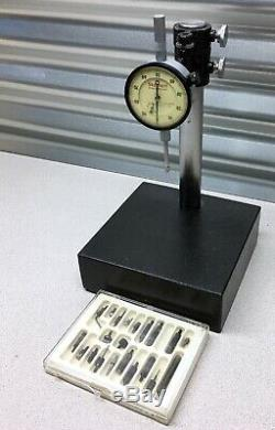 USA Made! Starrett 644-441 Dial Indicator. 001 Granite Stand +contact Point Set