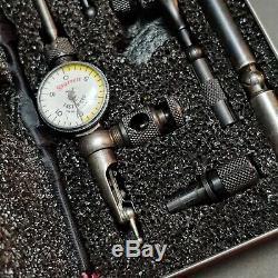 USA Made! Starrett No. 711 Last Word Dial Indicator & Attachments LCSZ. 001