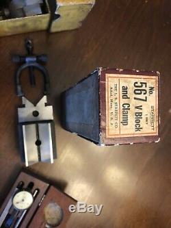 VINTAGE LUFKIN 905 And STARRETT No. 567 V BLOCK SET / Starrett Dial Indicator