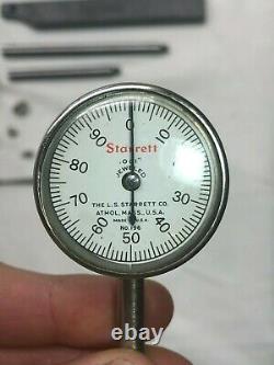 Vintage L. S. Starrett No. 196 Universal Dial Test Indicator. 001 Jeweled