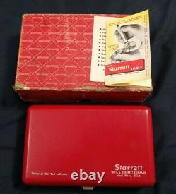 Vintage STARRETT 196A Universal DIAL INDICATOR SET Machinist Tool Case & Box