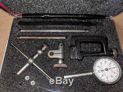 Vintage Starrett 196A1Z Universal Back Plunger DIAL TEST INDICATOR Kit +Box Case
