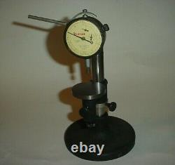 Vintage Starrett Comparator Stand with 2 inch table &. 0001 inch Dial Indicator
