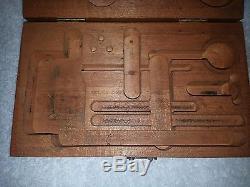 Vintage Starrett No. 196 Universal Dial Test Indicator Set Wood Case