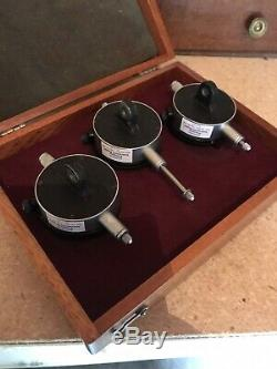 Vintage Starrett No. 253 Three Piece Dial Indicator Set With Case
