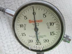 Vintage Starrett No. 665 Dial Test Indicator withNo. 25-B Dial Indicator & Wood Case