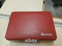 Vintage Starrett Universal Dial Test Indicator No. 196 Set With Case + extras