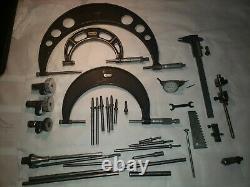 Vintage lot of machinist tools, starrett calipers micrometer, dial indicator