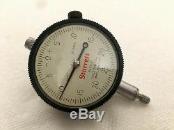 Vtg Starrett 665 & 25-131 Dial Test Indicator Inspection Set in Metal Box USA